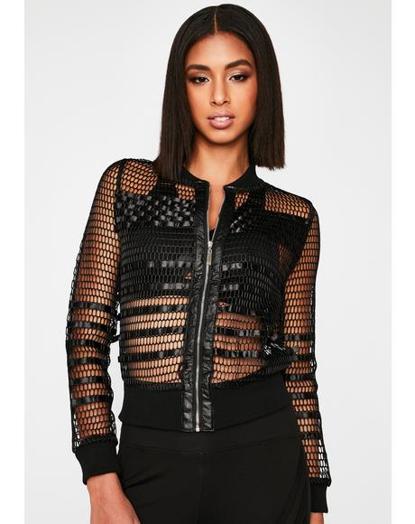 Just Face It Fishnet Jacket