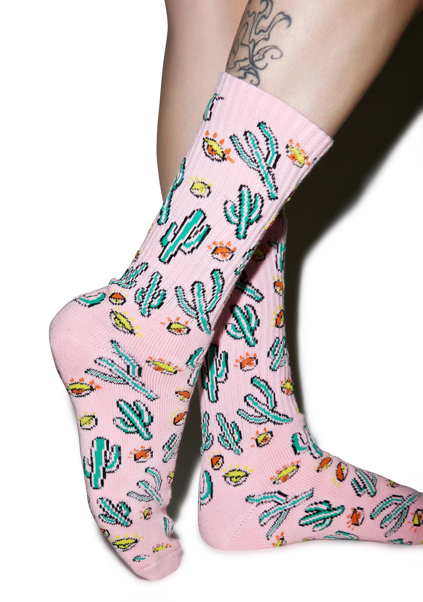 HUF Anne Freeman Saguaros Have Eyes Crew Sock