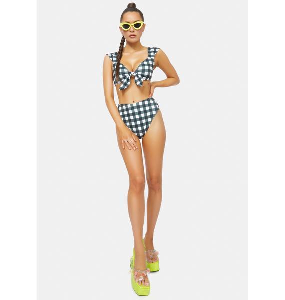 Current Mood Remember This Forever Gingham Bikini Set