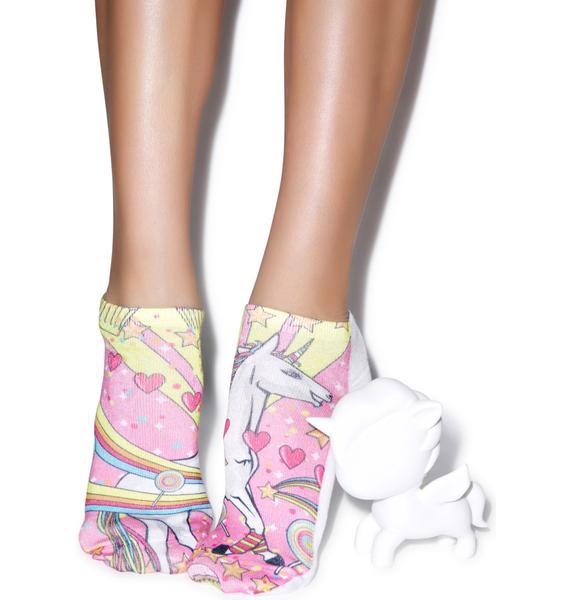 Unicorn Majik Ankle Socks