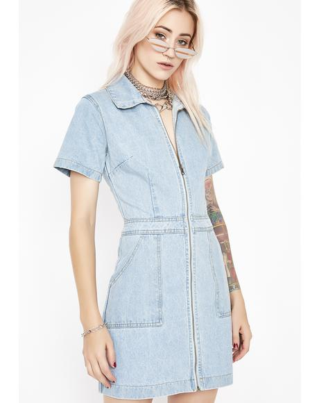 Spend Sum Denim Dress