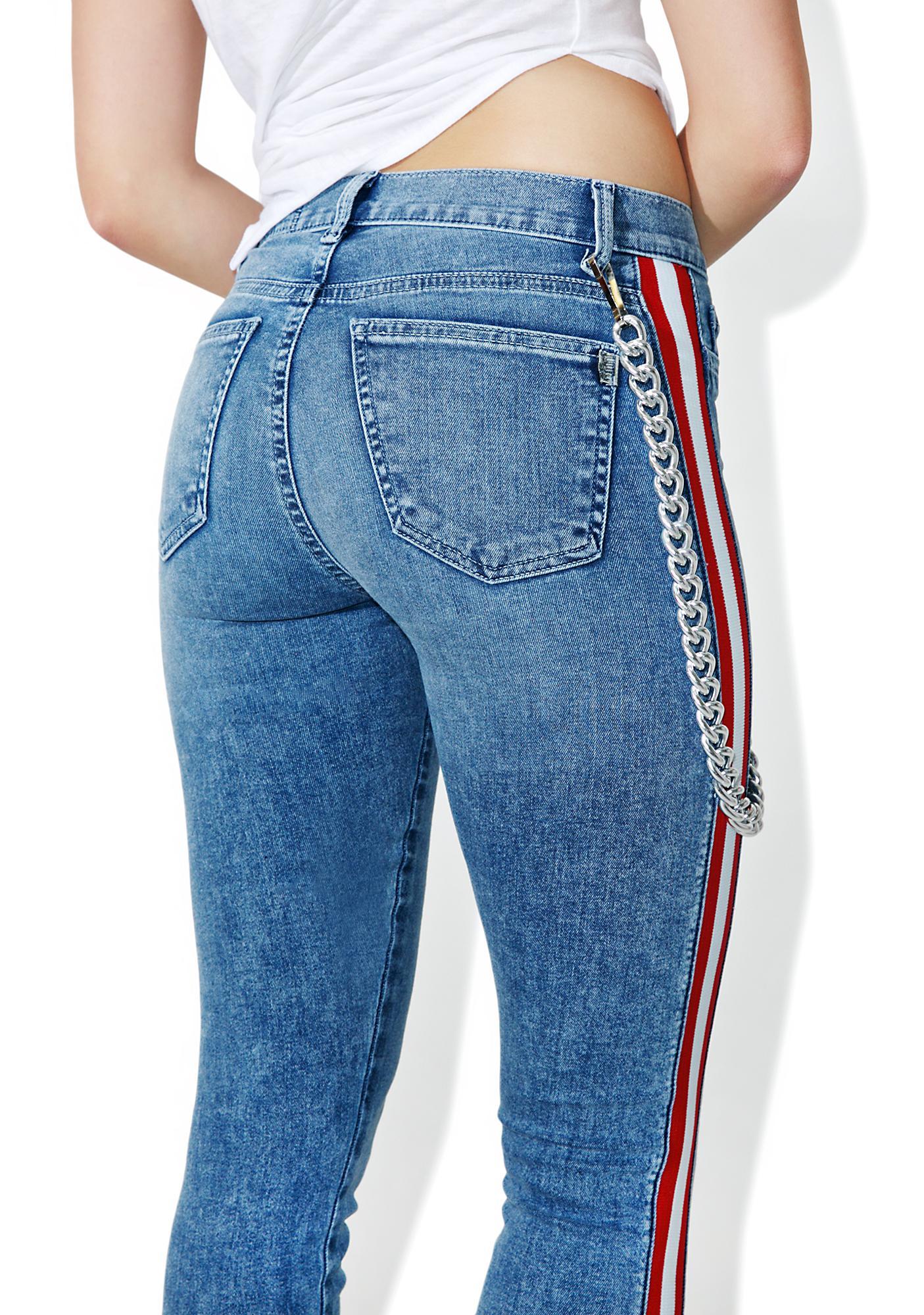 SIWY Denim Mattie High Waist Tuxedo Skinny Jeans