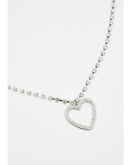 High School Crush Rhinestone Necklace