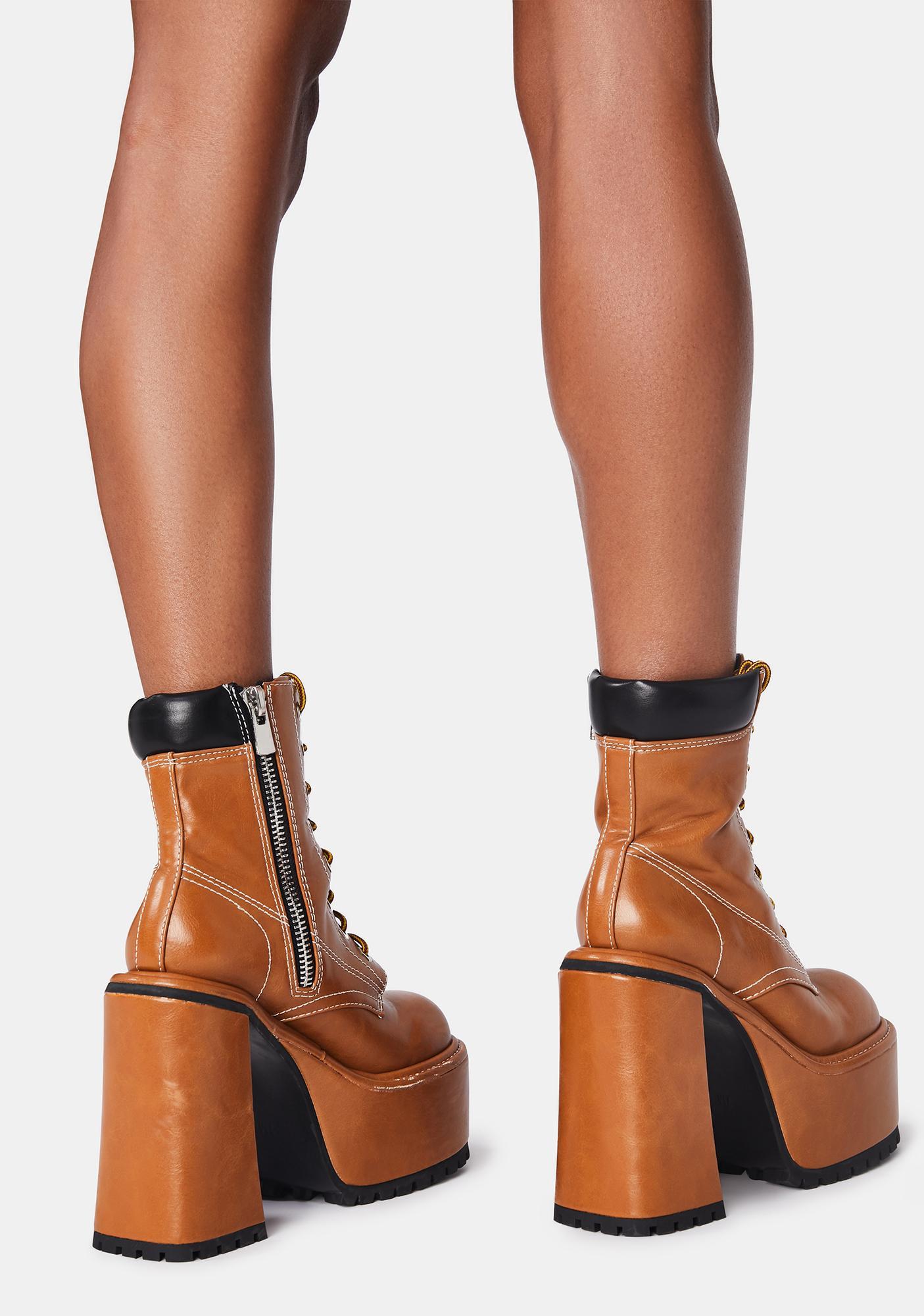 Dolls Kill x Bratz Lady Boss Combat Boots