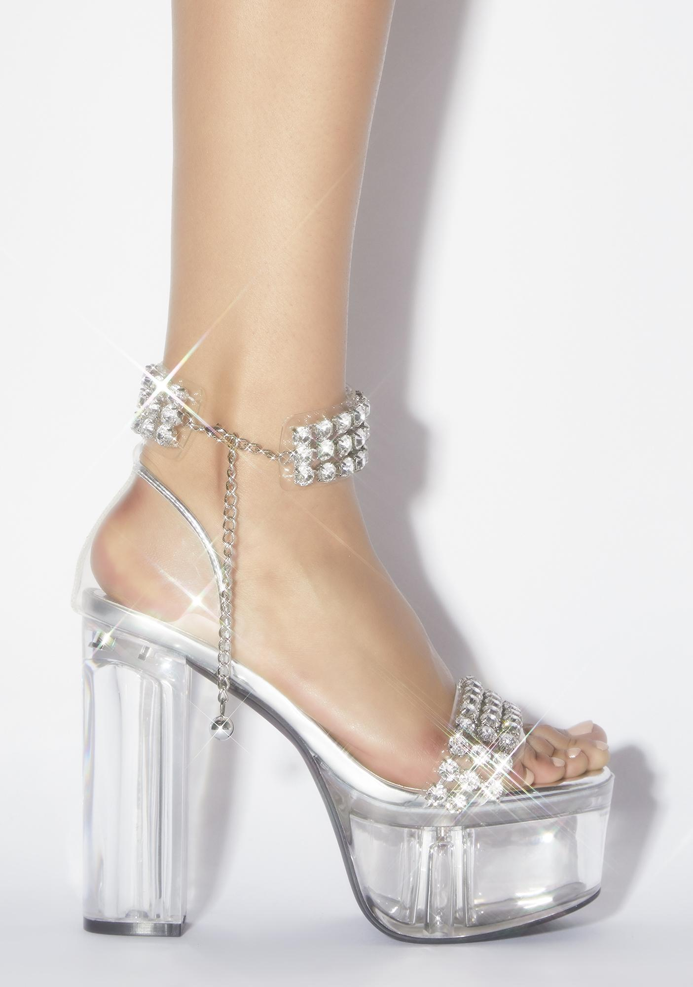Sugar Thrillz Let 'Em Talk Platform Heels