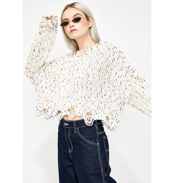 Funfetti Distressed Sweater