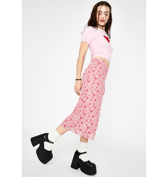 Motel Love Bloom Taura Midi Skirt