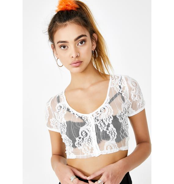 Laced With Love Crop Top
