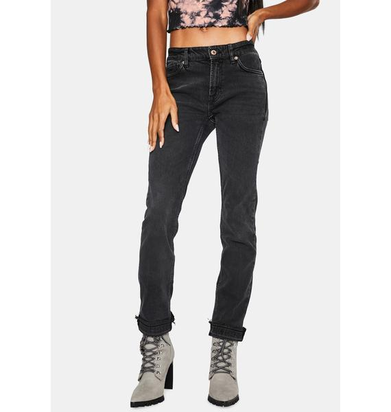 Free People Cuffed Slim Denim Boyfriend Jeans