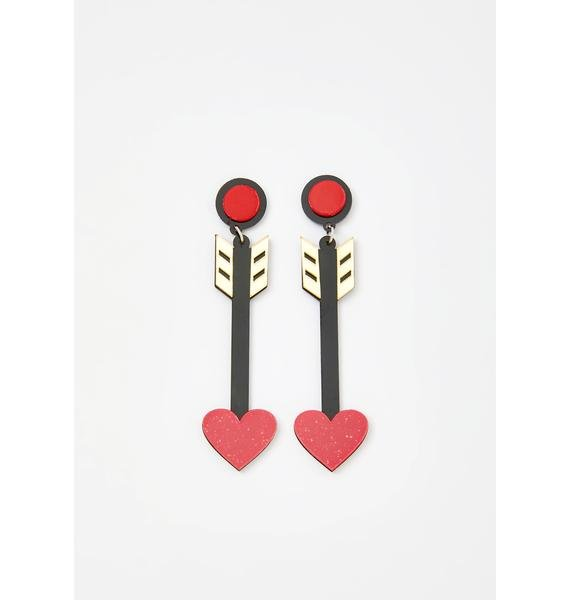 Hot Love Saint Arrow Earrings