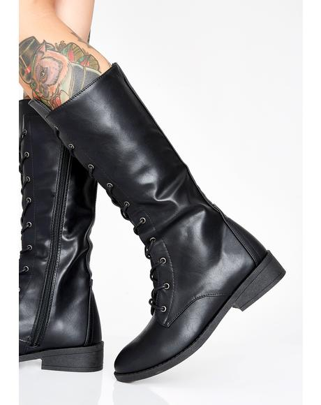 Baddest In Town Combat Boots