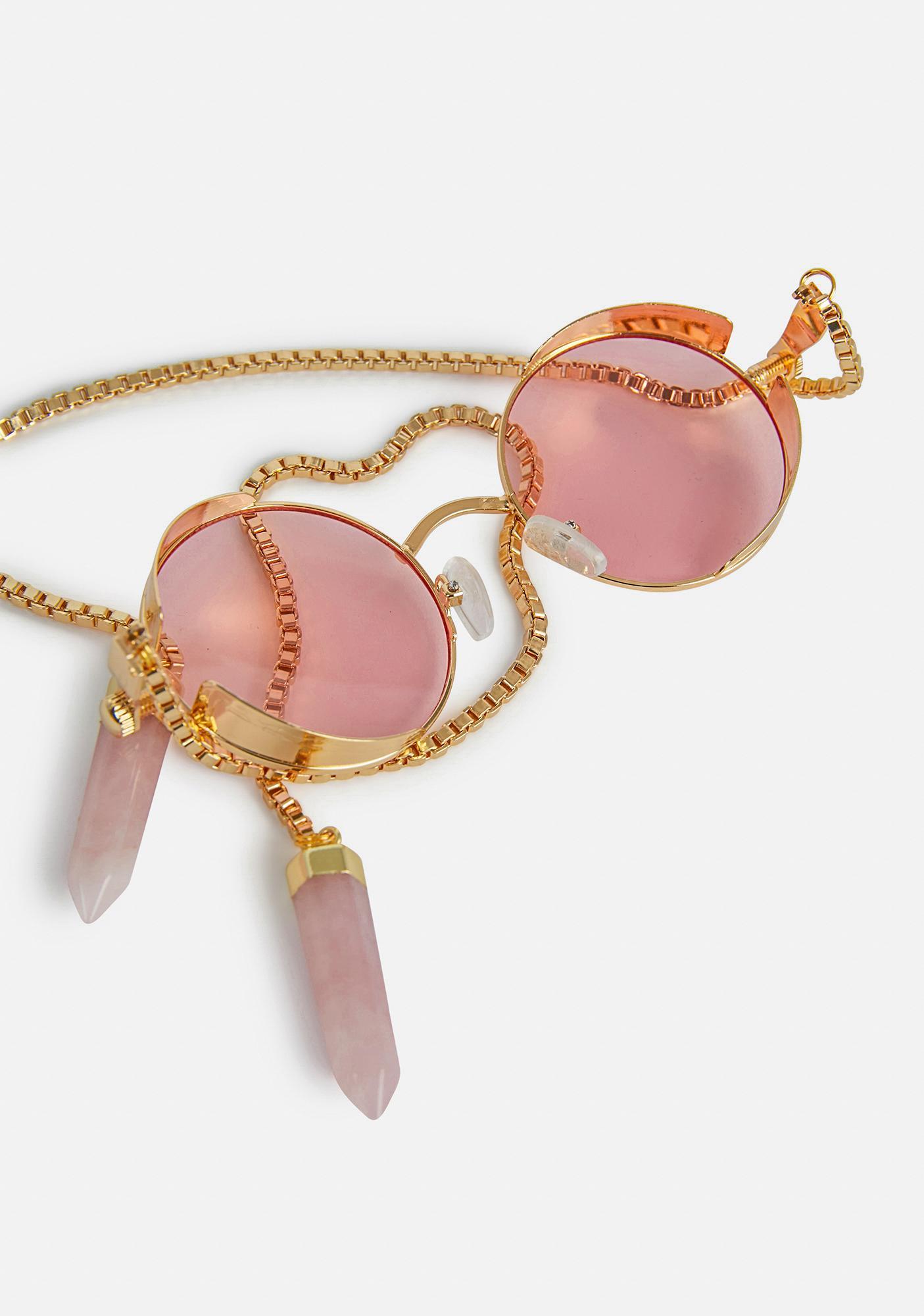 My Willows Me & Pinke McGee Circle Sunglasses
