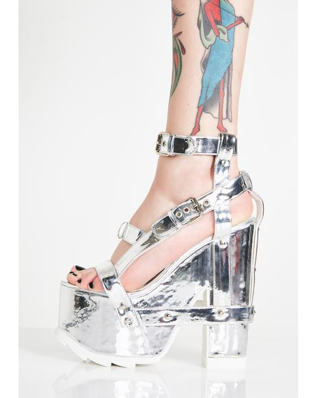 Nightcall Chrome Platform Heels