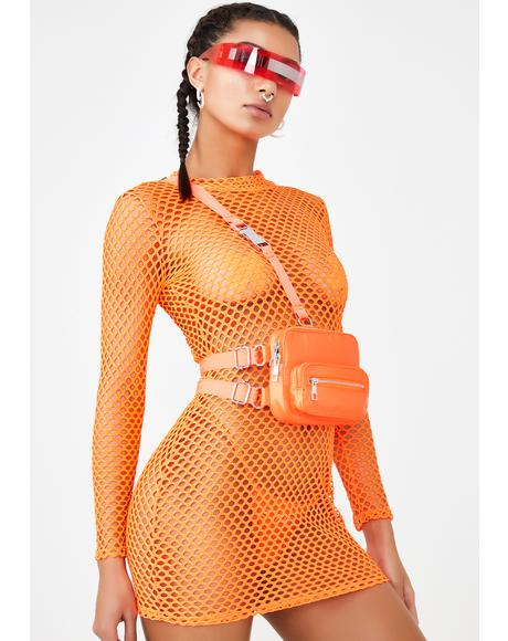 Kinetic Kitten Fishnet Dress