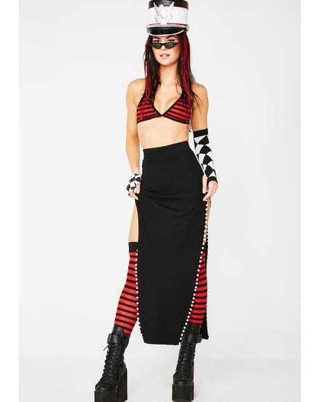 Legz For Daze Double Slit Skirt