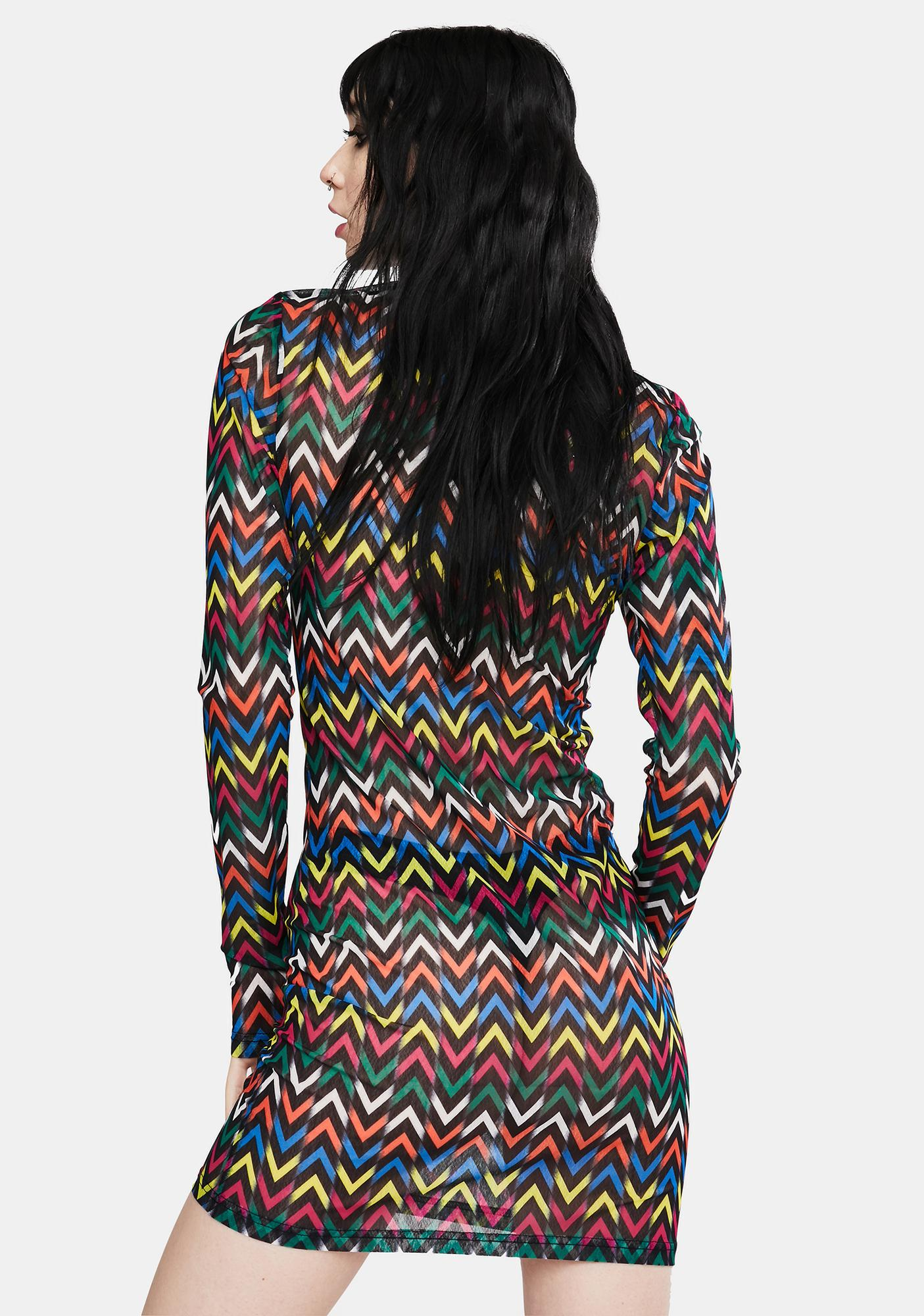 Jawbreaker Mix Tape Chevron Mini Dress