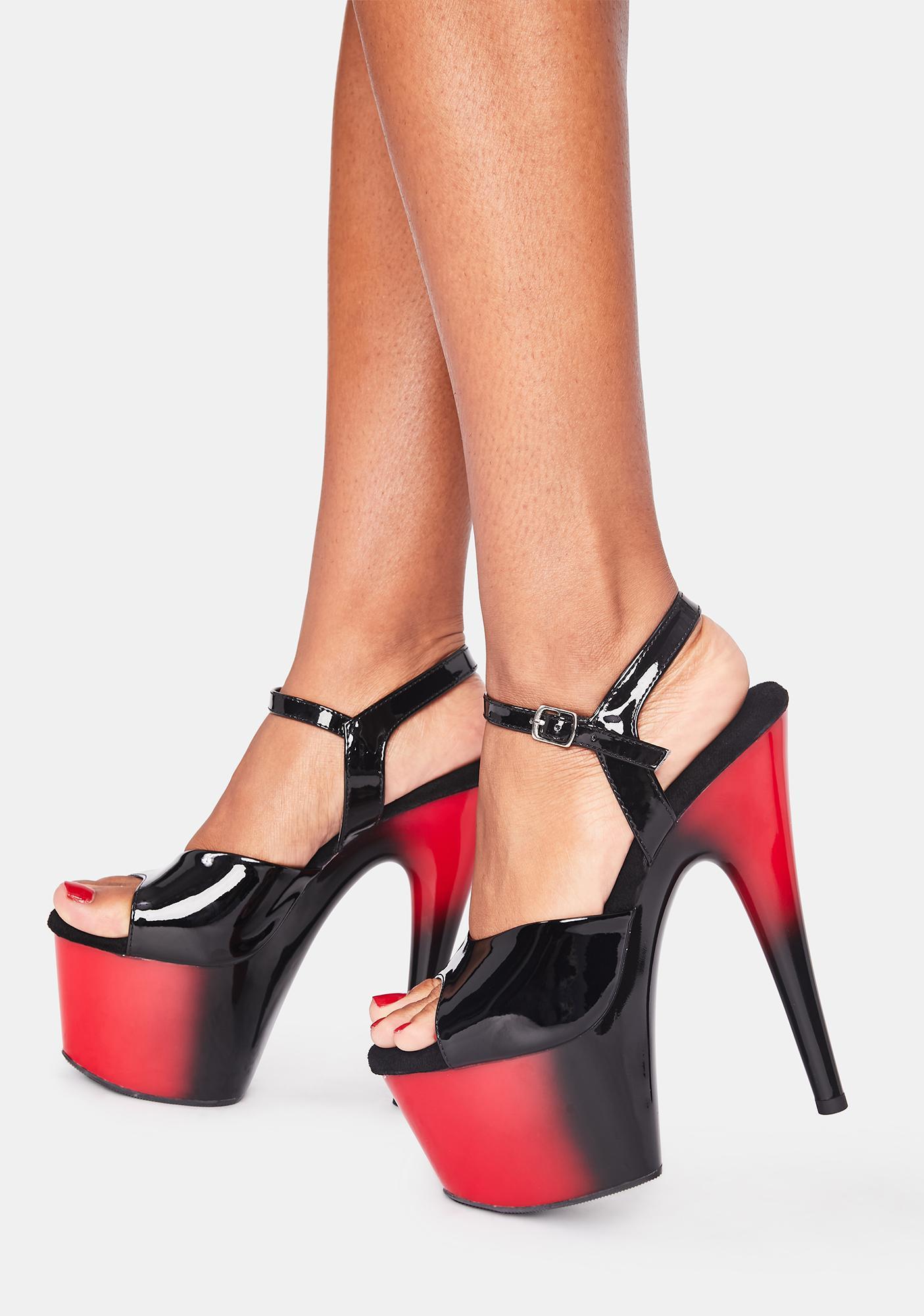 Pleaser Devil Kat Stacks Adore Platform Heels