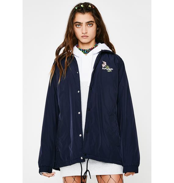 RIPNDIP Blue Botanical Nylon Jacket