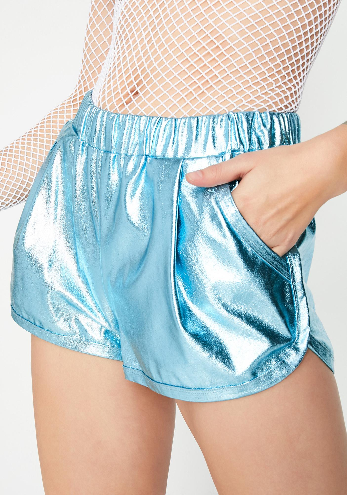 Cold Frosting Metallic Shorts