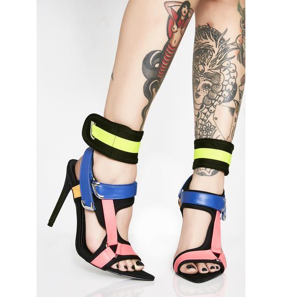Deep End Strappy Heels