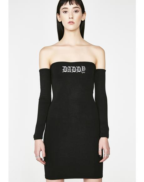 OG Daddy Off The Shoulder Dress