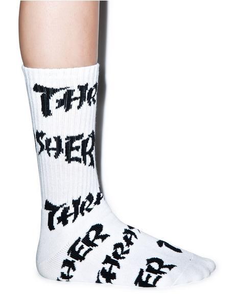HUF X Thrasher Logo Socks