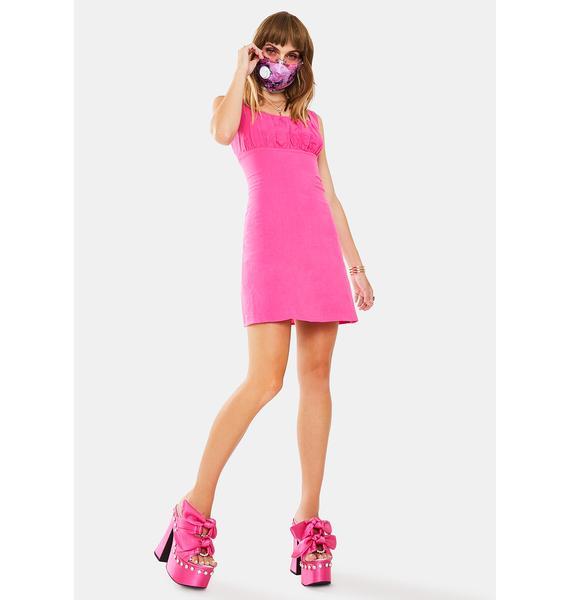 Glamorous Pink Cerise Mini Dress