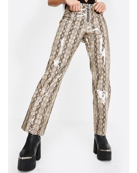 Duel Delight Snakeskin Pants