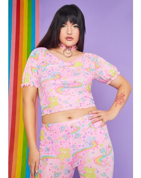 Wild Rainbow Ride Mesh Top