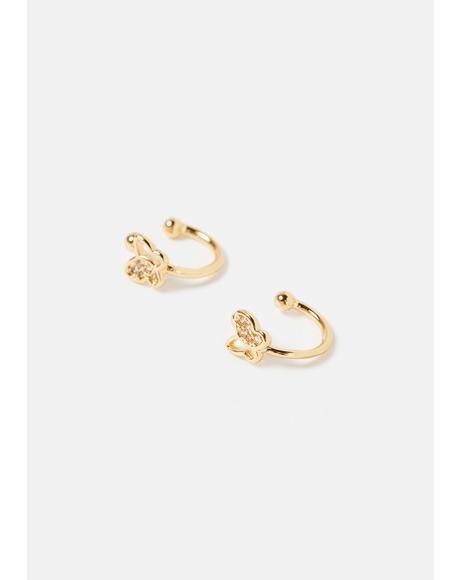 Mini Butterfly Cuff Earrings