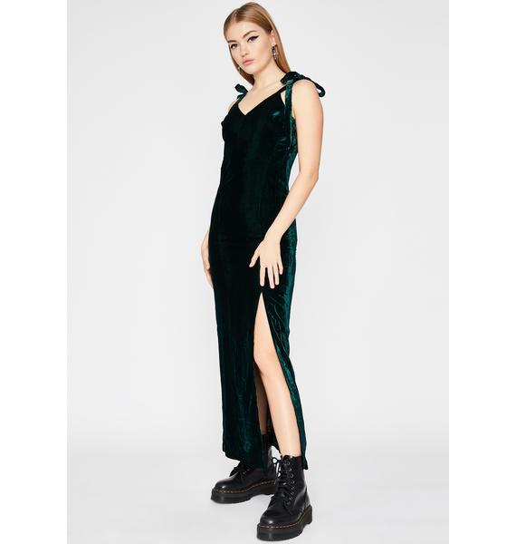 Jaded Cascade Maxi Dress