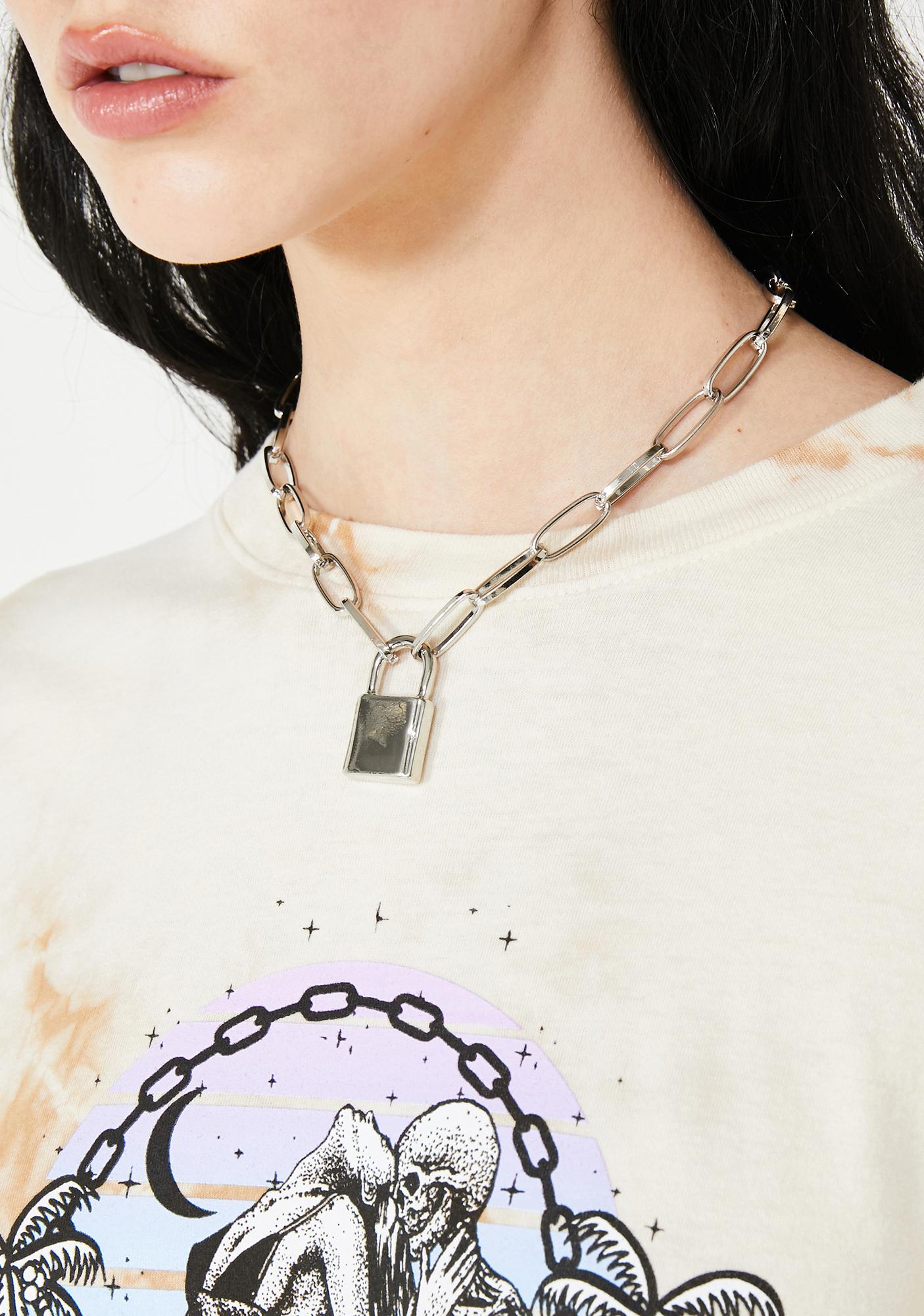 Latched Up Lock Necklace