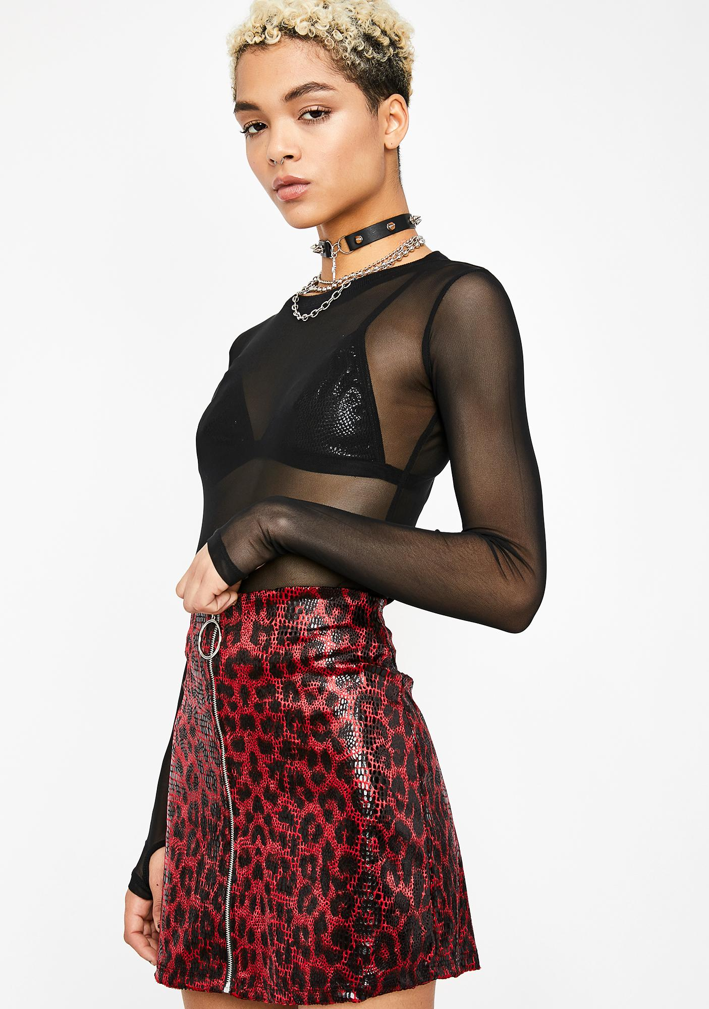 On The Hunt Leopard Mini Skirt