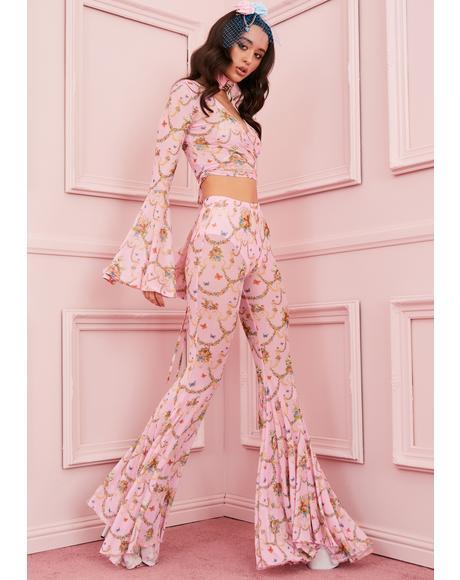 Lush Opulence Flare Pants