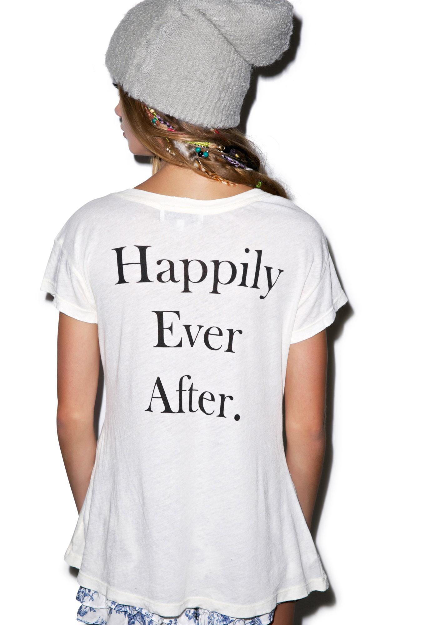 Wildfox Couture Short Story Hippie Crew Tee
