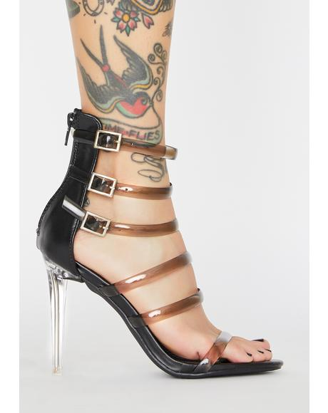 Dark Unicorn Horn Clear Heels