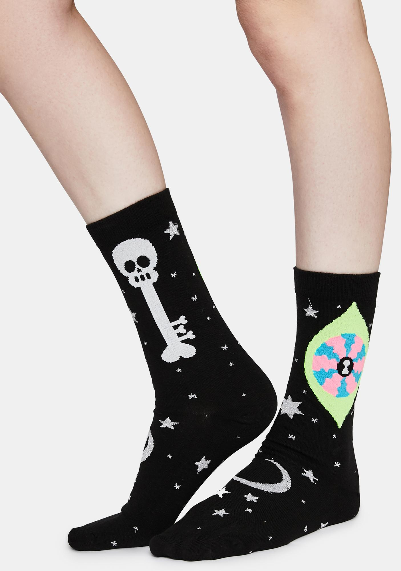 Gumball Poodle Oliver's Eye Crew Socks