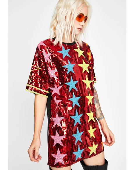 Hot Starlight Starbright T-Shirt Dress