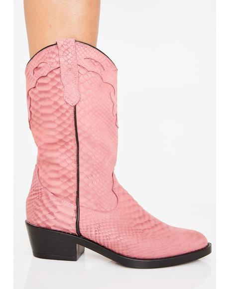 Rose Cobra Indio Boots