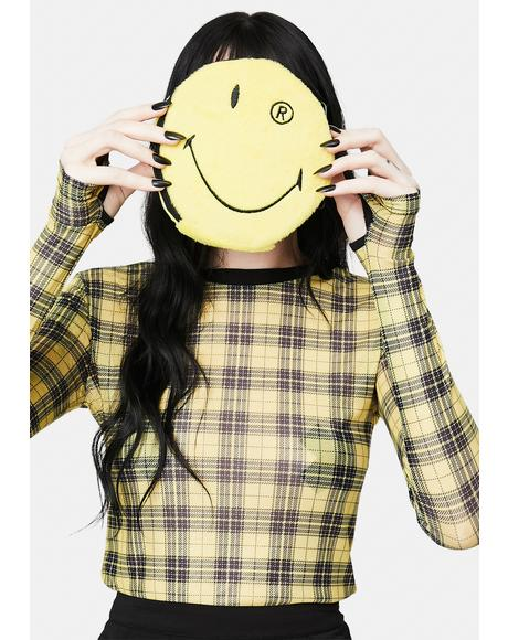 x Smiley Yellow R Crossbody Bag
