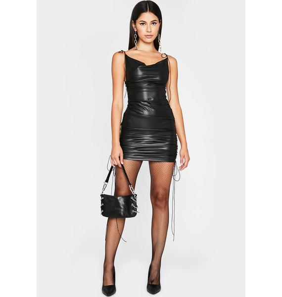 Trickin' After Hours Ruched Mini Dress