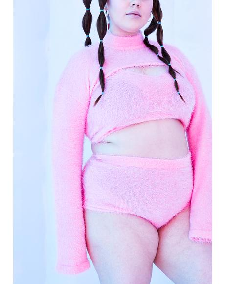 Her Sugar Coated Dreams Fuzzy Shorts