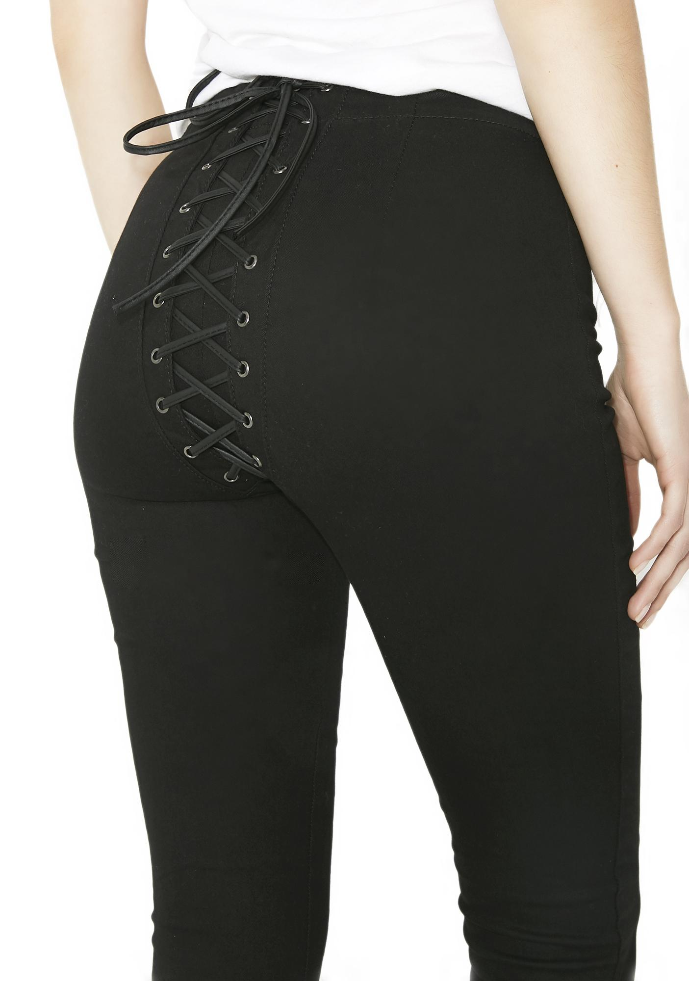 High Waisted Pants With Corset