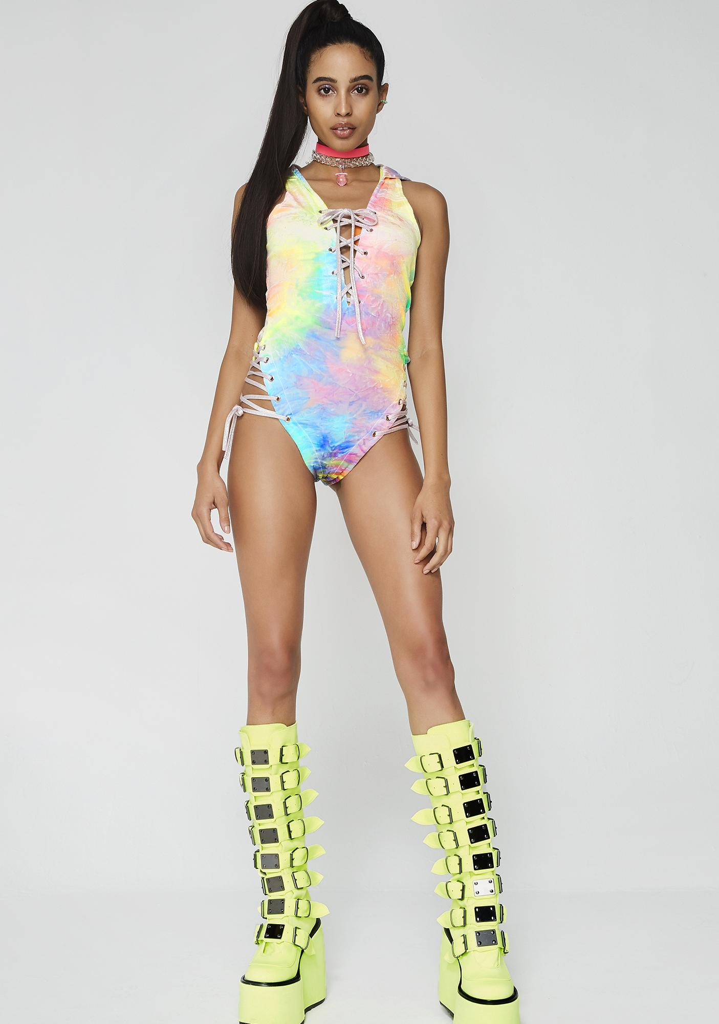 Taste The Rave-Bow Kitty Bodysuit