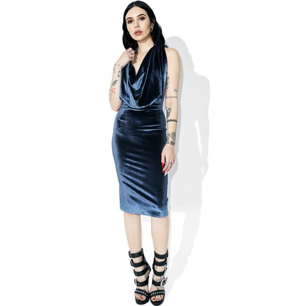 Smooth Criminal Cowl Neck Dress