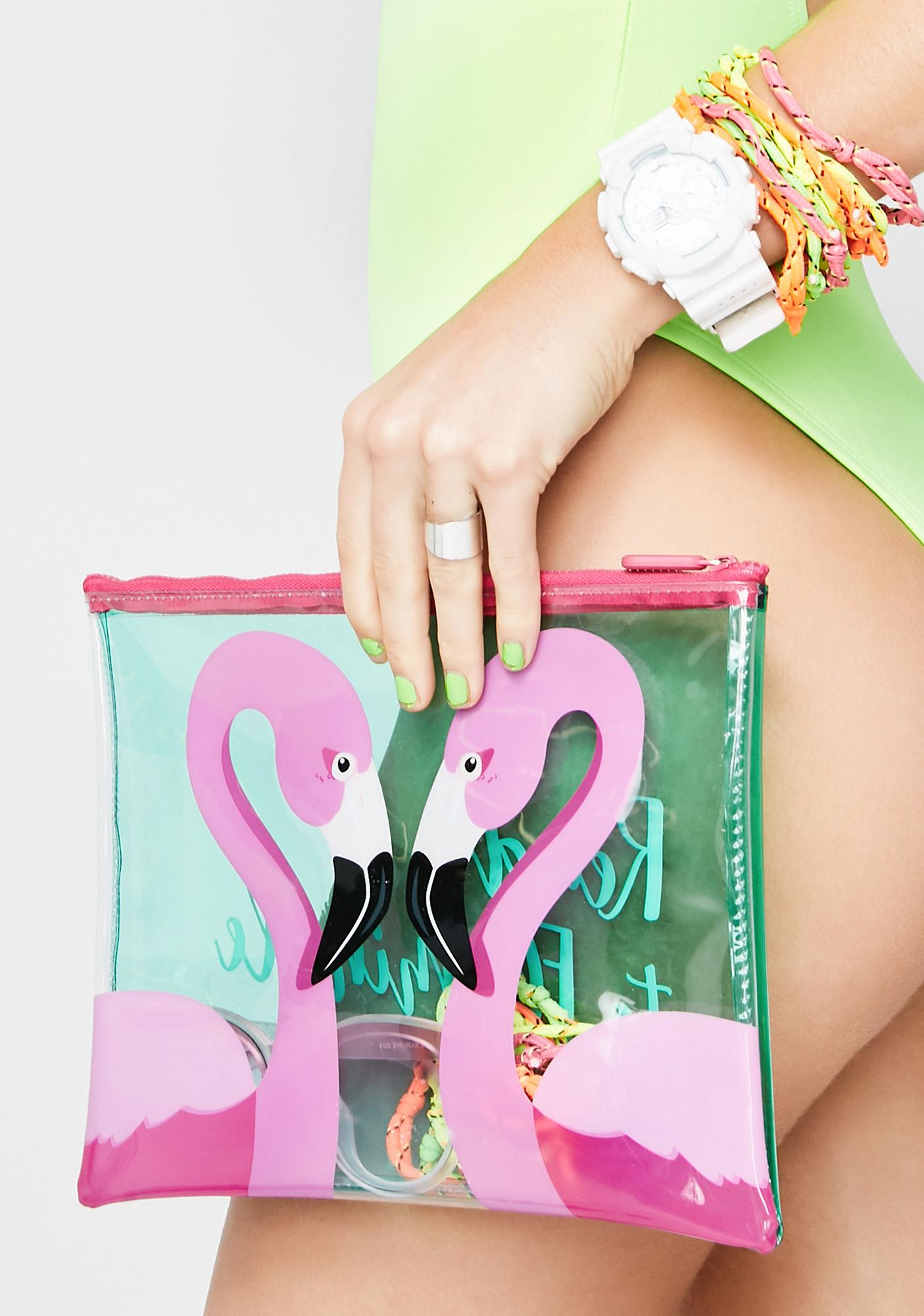 Ready To Flamingle Pouch