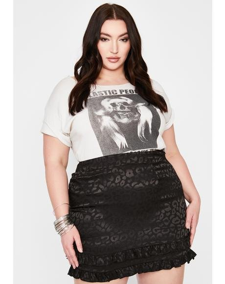 Noir She's Fierce For U Leopard Mini Skirt