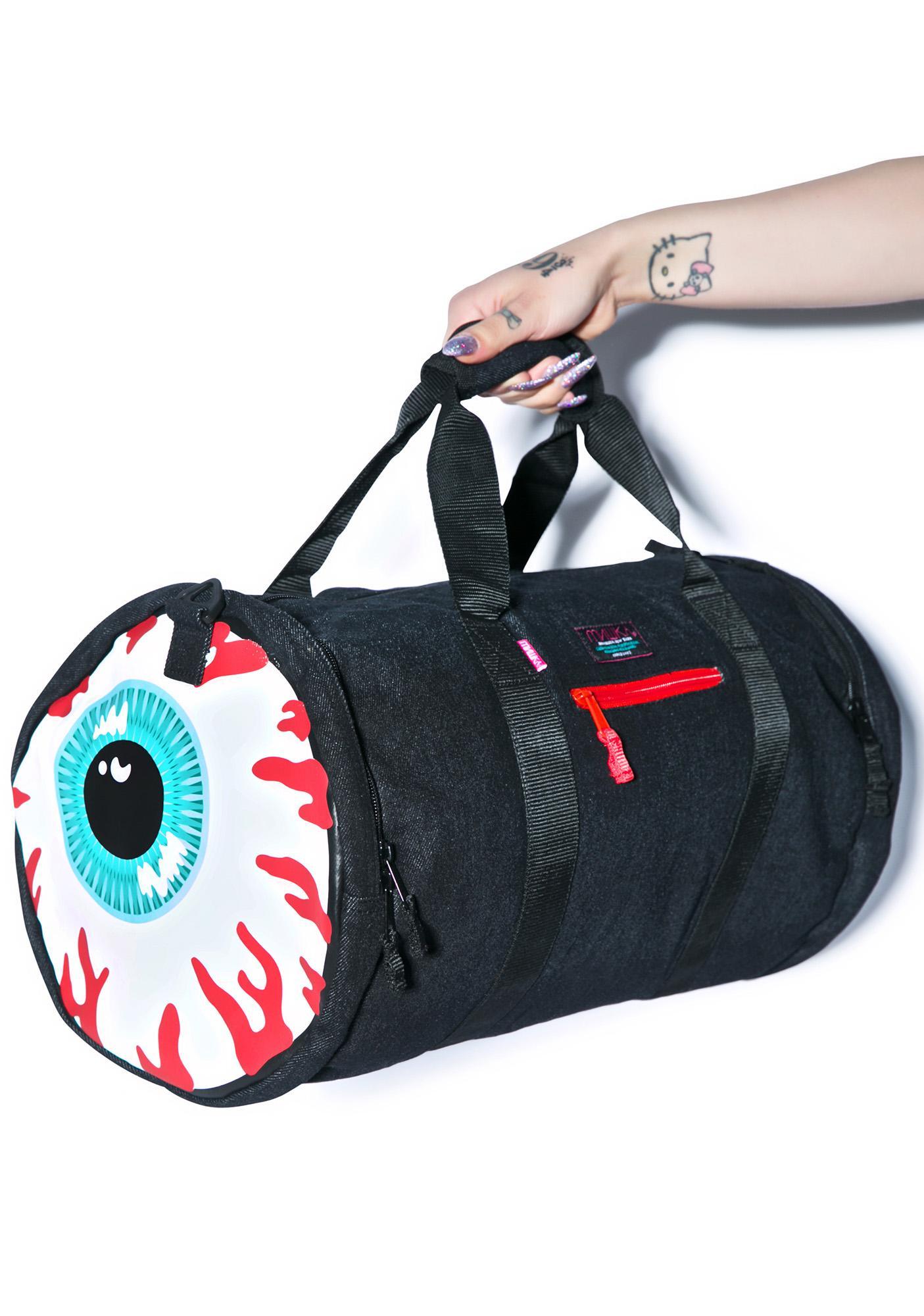 Mishka Keep Watch Denim Duffle Bag