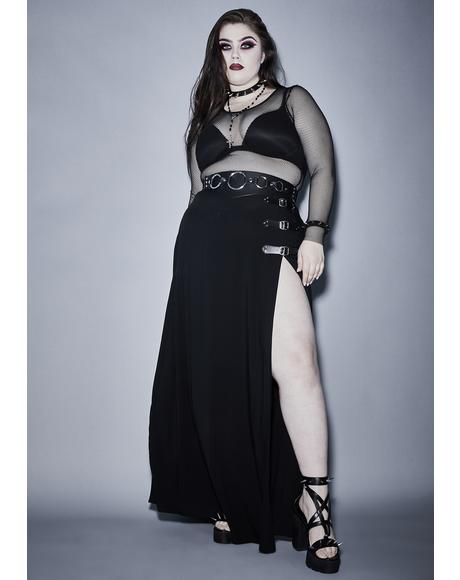 Timely Twilight Doom Maxi Skirt