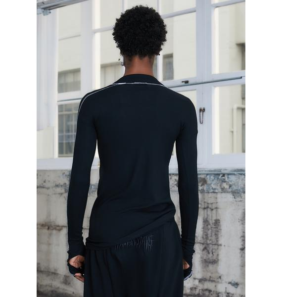 DARKER WAVS Kickdrum Gloved Long Sleeve Top